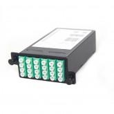 24 Core MPO Box, 3 ports MPO to 3x 8 ports LC connectors, OM3, MMF