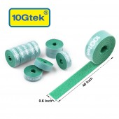 Self-Attaching Reusable Hook & Loop Fastening Tape, Double Side Cable Tie,  L 40'' x W 0.6''
