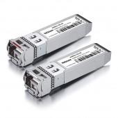 A Pair of 10G SFP+ Bidi Transceivers, up to 40 km