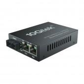 3-Port 1.25G Desktop Fiber Switch, with SC Fiber, 20 km