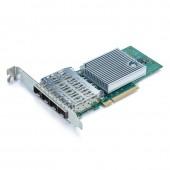 10G Network Card, Quad SFP+ port, X8 Lane, Intel X710-DA4 equivalent