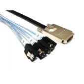 SAS (SFF-8470) to (4) SATA Cable 1M