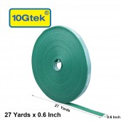 Self-Attaching Reusable Hook & Loop Fastening Tape, Double Side Cable Tie,  L 27 yds, W 0.6''