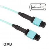 MPO to MPO, Multimode OM3 50/125μm, 12-Core, POLARITY B