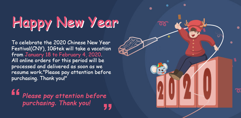 Happy Chinese New Year 2020, Holiday Notice - SFPcables.com